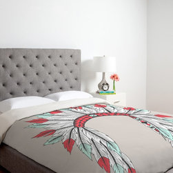 DENY Designs - DENY Designs Wesley Bird Feathers Duvet Cover Multicolor - 13531-DUWKIN - Shop for Duvets from Hayneedle.com! Your choice of feather pattern adds a gorgeous splash of color to your bedroom on the DENY Designs Wesley Bird Feathers Duvet Cover. This durable machine washable duvet cover has a metal snap closure and is custom-printed for each order to ensure vivid long-lasting patterns.About DENY DesignsDenver Colorado based DENY Designs is a modern home furnishings company that believes in doing things differently. DENY encourages customers to make a personal statement with personal images or by selecting from the extensive gallery. The coolest part is that each purchase gives the super talented artists part of the proceeds. That allows DENY to support art communities all over the world while also spreading the creative love! Each DENY piece is custom created as it's ordered instead of being held in a warehouse. A dye printing process is used to ensure colorfastness and durability that make these true heirloom pieces. From custom furniture pieces to textiles everything made is unique and distinctively DENY.