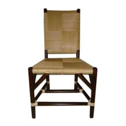 Used Donghia Rattan Side Chair - An original Donghia side chair circa 1985. This side chair is constructed from woven rattan and has a great textural presence. This Donghia chair is in immaculate condition and will make a great accent chair in any space.     A matching Donghia armchair is also for sale, listed separately. Please see seller's other listings.