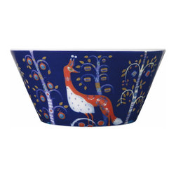 Iittala - Taika Pasta Bowl Blue - Everybody's favorite dish just got a touch more special. The pattern on this porcelain pasta bowl has a magical fairy-tale quality sure to enchant friends and family gathered at your table.