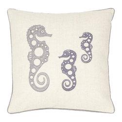 Safavieh - Tropical Oreas Accent Pillow - Blue,Gray - Tropical Oreas Accent Pillow - Blue,Gray