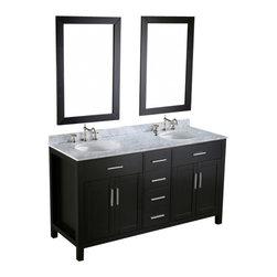 "Bosconi - Bosconi SB-252-4 60"" Contemporary Double Vanity - Bosconi SB-252-4 60"" Contemporary Double Vanity"