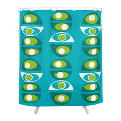 Crash Pad Designs - Renee Pedro Brady Shower Curtain - The fun doesn't have to stop at the bathroom door. Our funky shower curtain will make your bathroom smile.