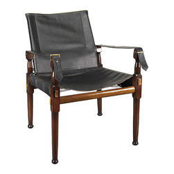 "Inviting Home - British Imperial Army Leather Chair - A classic assembly campaign chair. Originally used in the British Imperial Army as an officers chair when in camp; 22-3/8"" x 22-1/2 x 31-1/8""H Reproduction of classic assembly campaign chair. Originally used in the British Imperial Army as an officer��s chair when in camp. Campaign chair features heavy double layered cowhide with elegant natural vegetable dyed nappa leather piping and brass hardware. Enjoy Victorian comfort combined with a timeless look. Assembly required."