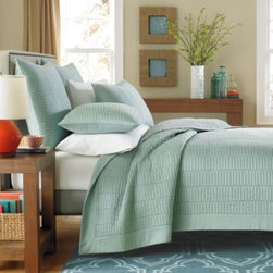 Real Simple - Real Simple Dune Coverlet in Sea Glass - This classic Real Simple  Dune coverlet adds a touch of easy, elegant charm to your bedroom with its clean design and tasteful available color selection.