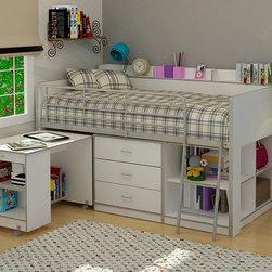 Rack Clairmont White Twin Loft Bed -