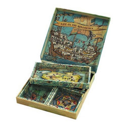 "Kid's Pirate Island Puzzlers - The kid's pirate island puzzlers measures 6.5 x 6.5 x 1"". The best games keep them mesmerized for hours, and this classic ensures quiet time in the car. Rolling beads, so difficult to encourage into those tiny little holes, and yet, the challenge looms out there..."