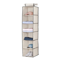 """None - 6 SHELF SWEATER ORGANIZER - Add this Kennedy Home Collection organizer to expand,sort and clean up any closet space. 46""""H x 12""""W x 12""""D. 6 shelves. Easy velcro installation. Collapsible"""