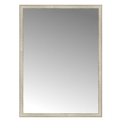"""Posters 2 Prints, LLC - 42"""" x 57"""" Libretto Antique Silver Custom Framed Mirror - 42"""" x 57"""" Custom Framed Mirror made by Posters 2 Prints. Standard glass with unrivaled selection of crafted mirror frames.  Protected with category II safety backing to keep glass fragments together should the mirror be accidentally broken.  Safe arrival guaranteed.  Made in the United States of America"""