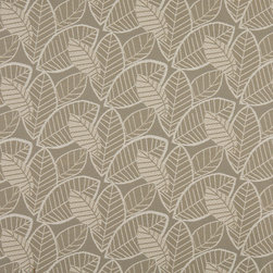 Gray And Beige Leaves Indoor Outdoor Upholstery Fabric By The Yard - P701013 is great for residential and commercial applications, and can be used outdoors and indoors. This fabric will exceed at least 35,000 double rubs (15,000 is considered heavy duty), and is easy to clean and maintain. In addition, this product is stain, water, mildew, bacteria and fade resistant. For superior quality and performance, this fabric is woven and solution dyed.