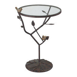 Sterling - Sterling 138-054 Kimberlybirds On A Branch Accent Table - Sterling 138-054 Kimberlybirds On A Branch Accent Table