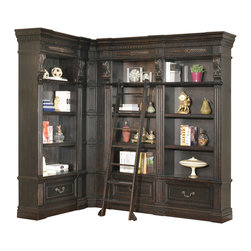 Parker House - Grand Manor Palazzo 3-Piece Corner Museum Bookcase with ...