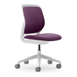 Steelcase - Steelcase Cobi Chair, White Frame & Standard Casters, Concord - Nimble is as nimble does. This chair encourages agile responses to whatever comes your way at work. It's sleek and simple, so it can roll into meetings easily. Comfy enough to let you settle into the task in front of you. And supportive enough to allow you to change your position frequently without looking awkward.