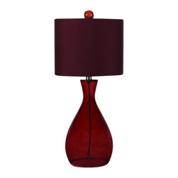 AF Lighting - AF Lighting 8519 Red Single Light Hand Blown Glass Table Lamp from the Angelo Ho - AF Lighting 8519 Single Light Table Lamp from the Angelo Home CollectionThis fixture is designed by Angelo Surmelis from angelo : Home. He is a world class designer who is known for his unique hand crafted work, and has been on many television shows for HGTV and TLC. AF Lighting and Angelo have partnered to create an entire collection of fixtures that are designed by Angelo. The collection of stylish and affordable fixtures is committed to quality, value and ease. From the hand crafted details to the no fuss assembly, the Angelo Home collection will add style to any room in the home.Features: