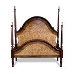 Bedroom Furniture - This beautifully crafted bed features an elaborate intricate hand painted design that can be customized further to fit your specific interior design needs! You can see more finishes and furniture online at www.KoenigCollection.com