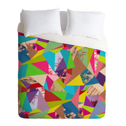 DENY Designs - Bianca Green Colorful Thoughts Duvet Cover - Turn your basic, boring down comforter into the super stylish focal point of your bedroom. Our Luxe Duvet is made from a heavy-weight luxurious woven polyester with a 50% cotton/50% polyester cream bottom. It also includes a hidden zipper with interior corner ties to secure your comforter. It's comfy, fade-resistant, and custom printed for each and every customer.