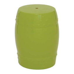 "Benzara - Ceramic Stool 18""H for Outdoor and Indoor Decor in Green - Ceramic Stool 18""H for Outdoor and Indoor Decor in Green. Very light weight and a handy structure make it movable to any corner of your home. It comes with a dimension of 18""Height. Some assembly may be required."