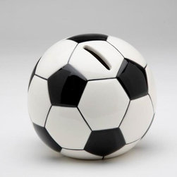 CG - Black and White Soccer Ball Shaped Design Piggy Bank Collectible - This gorgeous Black and White Soccer Ball Shaped Design Piggy Bank Collectible has the finest details and highest quality you will find anywhere! Black and White Soccer Ball Shaped Design Piggy Bank Collectible is truly remarkable.