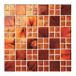 Mosaic Glass Tiles - Feng Shui glass mosaic tiles that are Red Hot!