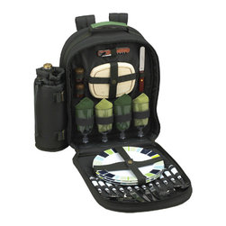 Picnic at Ascot - ECO Picnic Backpack for Four - Features: