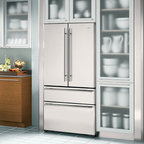 "Jenn-Air JFC2290VEM 36"" Cabinet Depth French Door Refrigerator - Traditional - dallas - by Elite ..."