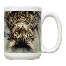 115-Peculiar Perspective Mug - 15 oz. Ceramic Mug. Dishwasher and microwave safe It has a large handle that's easy to hold.  Makes a great gift!