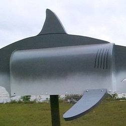 Great White Shark Mailbox - Let all who pass your house know that you're a serious shark fin-atic.