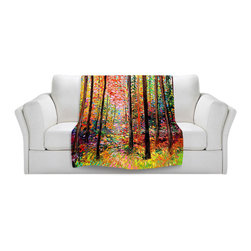 DiaNoche Designs - Throw Blanket Fleece - Prisms - Original Artwork printed to an ultra soft fleece Blanket for a unique look and feel of your living room couch or bedroom space.  DiaNoche Designs uses images from artists all over the world to create Illuminated art, Canvas Art, Sheets, Pillows, Duvets, Blankets and many other items that you can print to.  Every purchase supports an artist!