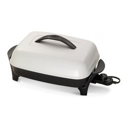 "Presto - 16"" Electric Skillet - 16"" Electric Skillet roasts  fries  grills  stews  bakes  makes casseroles and more. Innovative EverNu cover won't dent  warp  peel or bend. Dishwasher safe with heat control removed. Control Master  heat control automatically maintains the proper cooking temperature.   ."