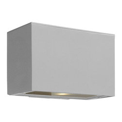 Hinkley Lighting - Atlantis Mini Pocket Outdoor - Make the light of your life chic and sophisticated. This minimalistic wall light provides a ecofriendly, ambient illumination, highlighting the texture of your wall.