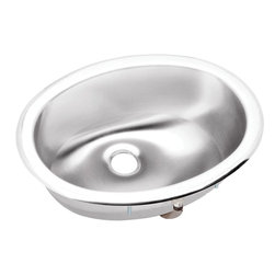 "Elkay - 16"" x 12.5"" x 5.8125"" Single Bowl Bath Sink - Product height: 8.69. Product min width: 23.69. Product depth: 19.9418. Gauge stainless steel 16"" x 12.5"" x 5.8125"" single bowl top mount bathroom sink. Introduce inspired beauty into the bathroom with a choice of either crisp lines or smooth curves, asana creates a compelling presence without overpowering the senses. Asana (lustertone) stainless steel single bowl top mount sink."