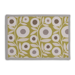 Chartreuse Graphic Flower Print Tailored Placemat Set - Class up your table's act with a set of Tailored Placemats finished with a contemporary contrast border. So pretty you'll want to leave them out well beyond dinner time! We love it in this modern graphic floral print in lime green, gray & white that will put some spring in your decor's step