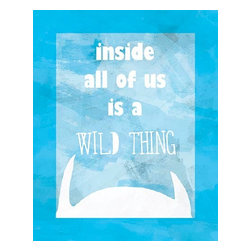 Oh How Cute Kids by Serena Bowman - Inside Us Wild Thing, Ready To Hang Canvas Kid's Wall Decor, 20 X 24 - Each kid is unique in his/her own way, so why shouldn't their wall decor be as well! With our extensive selection of canvas wall art for kids, from princesses to spaceships, from cowboys to traveling girls, we'll help you find that perfect piece for your special one.  Or you can fill the entire room with our imaginative art; every canvas is part of a coordinated series, an easy way to provide a complete and unified look for any room.