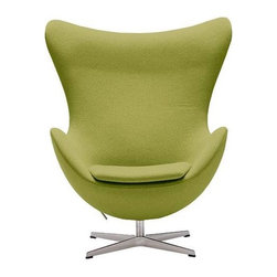 Republic of Fritz Hansen - Egg Chair | Design Within Reach - The Egg Chair was designed by Arne Jacobson in 1958 for the lobby of The Royal SAS Hotel in Copenhagen, which made that 1958 Danish Radisson the most stylish Radisson in history!