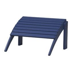 Linon - Woodstock Ottoman, Blue - Dimensions: 21.5 x 21.5 x 13.5 inches