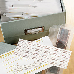 Exposures - Envelope ID Tabs - Overview Designed to fit our Shoebox storage envelopes, these ID stickers will help you label and organize your photo files.  Extra sheets of are perfect to have on hand. Features:  24 ID stickers