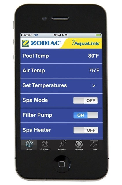 tropical swimming pools and spas iAquaLink Smart-Phone App