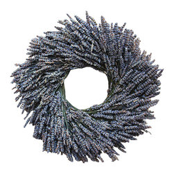 Flora Pacifica - Lavender Wreath - Grown at our farm on the Southern Oregon coast, the lavender that goes into this wreath will bring both its aroma and soothing benefits to your home.  Made for indoor display, avoid direct sunlight.
