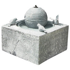 Contemporary Outdoor Fountains And Ponds by Serenity Health & Home Decor
