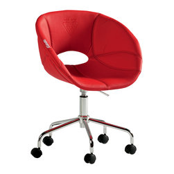 """Cilek - Turbo Chair - The turbo chair is part of the """"Need for Sleep"""" edition of Turbo Beds. Beautifully crafted by Cilek this chair feels like you are sitting in real race car seat. Made of highest quality leather like materials and stainless steel available in red finish and can be a great addition for """"Turbo Bed"""" themed bedroom."""