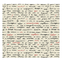 Removable Wallpaper-Love Letter-Peel & Stick Self Adhesive, Scroll, 24x120 - Couture WallSkins.  Your wall will love you for this.