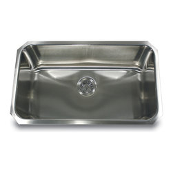 """Nantucket Sinks - Nantucket Sink ns43-11-16 - 30"""" large Rectangle Single Bowl Undermount Stainless - This undermount is the popular large rectangle kitchen sink. Perfect single bowl for multiple kitchen applications. The NS43 is available in  9"""" and 11"""" depths."""