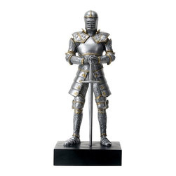 Summit - Silver Colored Italian Knight Design Standing Statue in Full Armor - This gorgeous Silver Colored Italian Knight Design Standing Statue in Full Armor has the finest details and highest quality you will find anywhere! Silver Colored Italian Knight Design Standing Statue in Full Armor is truly remarkable.