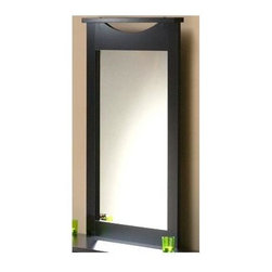 """South Shore - Chocolate Finish Frame Portrait Wall Mirror - The chocolate finish is one of today's hottest looks, so if you have already purchased a bed and other items for your room with this finish you will love to add this great mirror into the room. The contemporary design atop the mirror is a small feature, but a dramatic one that will tie all of your futurities together. Create a larger looking space with this chocolate finished mirror, or just enjoy the beauty that it brings to the room. This mirror would look wonderful over one of our chests of drawers and will add to the detail of the room with the subtle but detailed frame top. It features an attractive dark chocolate brown finish and includes the wall supports needed to easily add this look to your d̩cor. * Manufactured from eco-friendly, EPP-compliant laminated particle boardcarrying the Forest Stewardship Council (FSC) certificationTwo Mirror wall supports includedDark Chocolate finishParticle board and laminate veneer constructionLimited five year warranty from manufacturerProduct requires assembly41"""" H x 30"""" W x 3"""" D"""