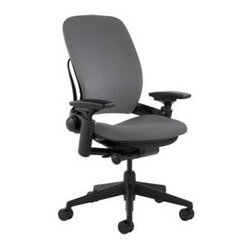 Steelcase - Leap ChairV2 by Steelcase in Grey Fabric - Leap Chair-V2 by Steelcase in Grey Fabric