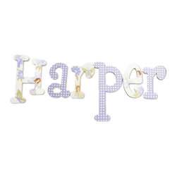 RR - Harper Lilac Fairies Hand Painted Wall Letters - Harper Lilac Fairies Hand Painted Wall Letters