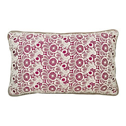 Christy - Christy of England Lace Boudior Cushion - 120005460280915000 - Shop for Pillows from Hayneedle.com! You can practically picture the Christy of England Lace Boudoir Cushion perched on a chaise lounge inside a lush early-20th-century Parisian apartment. The hero s true love turns giggles runs her hands over the cotton lace of this boudoir cushion searing the moment in his memory. This will be a lace to remember.Even if Paris is an ocean away and days past are trapped in the past this boudoir cushion placed on your sofa bed or even a chaise lounge instantly makes any room more memorable. The carefully crafted cotton lace dances over a background in your choice of color and a handy zipper closure completes the design.About Christy LifestyleAmazing how something so soft could have such an incredible impact on the world. In 1850 Henry Christy procured a small sample of looped pile fabric unseen in the Western World. He and his brother Richard Christy were taken with the delicate feel and incredible absorbency of the material and soon learned ways of reproducing the loop pile mechanically. The mass-produced terrycloth was an instant sensation that even Queen Victoria ordered in abundance. One hundred sixty-five years later the Christy name is still at the height of luxury home interiors and stands as England's premier retailer of everything from exquisite homewares to famous Egyptian cotton towels. Christy has even become the official towel supplier of Wimbledon.