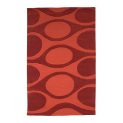 Kenga, Hand-tufted Wool Rug - Flowing organic shapes are interwoven to create this modern and harmonious design. Hand-tufted with 100% New Zealand wool. Cut and loop pile.