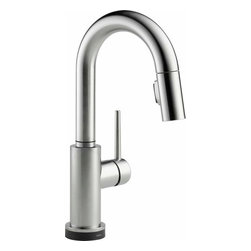 Delta Faucet - Pull-Down Faucet Touch2O Arctic Stainless - 9959T-AR-DST Trinsic 1-Handle Pull-Down Sprayer Bar Faucet Featuring Touch2O Technology in Arctic Stainless