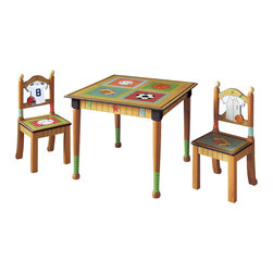 Teamson Design - Teamson Kids Little Sports Fan Table with 2 Chairs Set - Teamson Design - Kids' Table and Chair Sets. TD0022A. Why not get your child used to being organized and doing their work at the table. It also gives a wonderful sense of style to any little boys room.