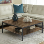 Jesper Office Furniture - Parsons Edition Square Coffee Table in Walnut - Features: